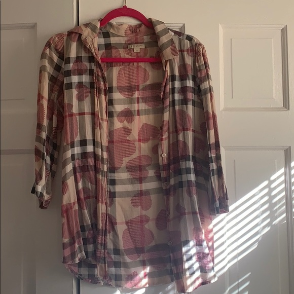 Burberry Tops - Authentic Burberry Heart Collection Button Down